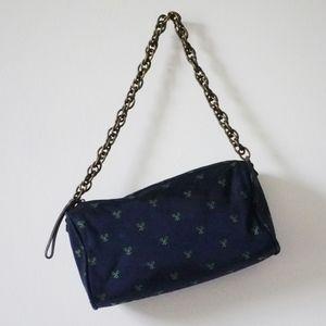 J. Crew purse | silk tennis handbag | chain strap